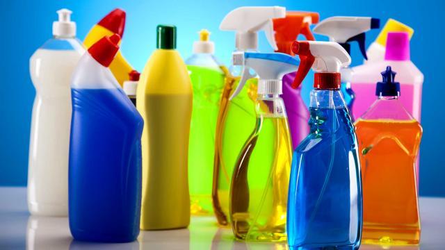 أنواع المنظفات الكيميائية